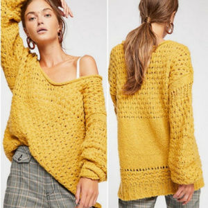 Free People Crashing Waves Pullover knit sweater